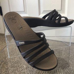 "Cute ""Crocs"" Wedge Slide Sandal"